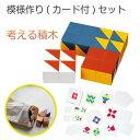 【店内全品ポイントUP中】ニキーチン 模様づくり カードセット BJ0005 BJ0025 積木 積み木 ブロック おもちゃ 知育遊…