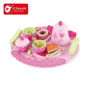 Classic world クラシックワールド アフタヌーンティーセット CL2807 おもちゃ かわいい おしゃれ 女の子 ごっこ遊び おままごと セット 3歳 4歳 5歳 6歳 ギフト プレゼント 誕生日 クリスマスプレ
