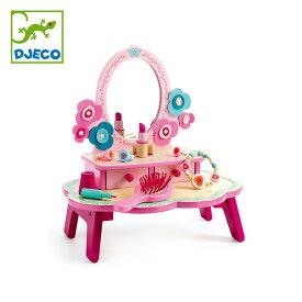 DJECO ジェコ フローラ ドレッシングテーブル DJ06553 おもちゃ かわいい おしゃれ 女の子 ごっこ遊び おままごと ドレッサー 化粧台 お化粧 ごっご メイク 4歳 5歳 6歳 ギフト プレゼント 誕生日