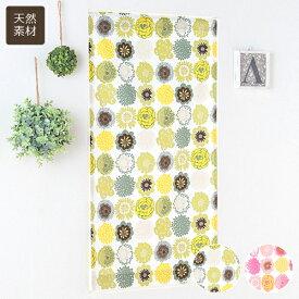 小窓用オーダーカーテン/丸みを帯びたキュートな花柄 綿100%カフェカーテン「ポップドロップス」