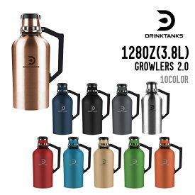 DRINK TANKS ドリンクタンクス 128OZ(3.8L) GROWLERS 2.0 グラウラー 真空断熱 ステンレスボトル 水筒