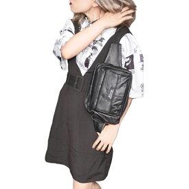 Belted Design Jumper Mini Skirt (black) レディース ワンピース 春 夏 ブラック 黒 膝丈 キャミワンピース ひざ丈 ベルト付き 服 洋服 モノトーン モノクロ フリーサイズ