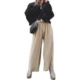 Shiny Pleats Pants (mint green) レディース プリーツパンツ ワイドパンツ ミントグリーン 緑 ゴールド ボトムス おしゃれ お洒落 上品 ゆったり 大人 カラー 高級感 女性 ファッション ブランド 洋服 A.D.G ADG エーディージー