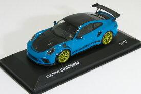 <11台限定>ミニチャンプス 1/43 ポルシェ 911 (991-2) GT3 RS ヴァイザッハパッケージ マイアミブルー 2018 With Weissach package Miami Blau / Rad Gold シリアルNo.1