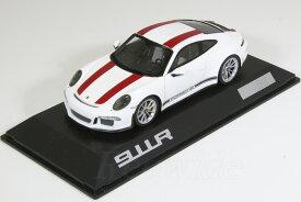スパーク 特注 1/43 ポルシェ 911R (991) ホワイト / レッドストライプ 1911台限定 ツーリングパッケージ 911 GT3 with Touring Package