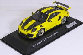 スパーク 特注 1/43 ポルシェ 911 (991-2) GT2 RS 2017 イエロー/ブラック 1911台限定 Porsche 911 GT2 RS type 991 Weissach Package yellow / black