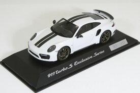 スパーク 特注 1/43 ポルシェ 911 (991-2) ターボ S エクスクルーシブ・シリーズ ホワイト 2017 1911台限定