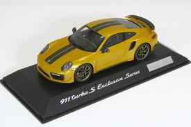 スパーク 特注 1/43 ポルシェ 911 (991-2) ターボ S エクスクルーシブ・シリーズ ゴールド 2017 1911台限定