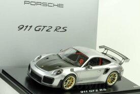 スパーク 特注 1/18 ポルシェ 911 (991-2) GT2 RS 2017 シルバー/ブラック 1911台限定