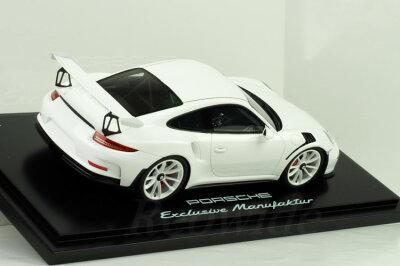 <予約特価>スパーク1/18ポルシェ911(991)GT3RSホワイトシルバーホイール500台限定