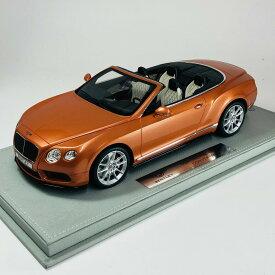 BBR MODEL 1/18 ベントレー コンチネンタル GT V8 コンバーチブル サンライズゴールドメタリック Bentley Continental S Convertible sunrise gold metallic