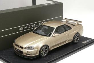 Ignition 1 / 18 Nissan R34 skyline gt-r m-Spec Nur silica bless 40 limited edition IG0221