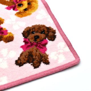 アーンジョーDOG&CATプードル総柄ハンカチ(ピンク)