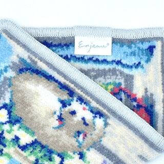 「ミネットハンカチ」タオルハンカチ23cmシェニール織綿100%綿100%アーンジョー