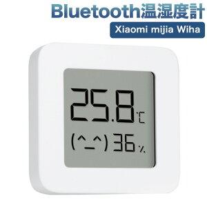 Xiaomi Bluetooth 温湿度計 アプリデジタル LCD大画面表示 温度計 湿度計 大画面 コンパクト 表情マーク付き 電池残量