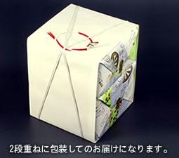 2段重ねに包装してのお届けになります。