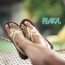 【2019SS】PLAKA SANDALプラカサンダル USブランド サンダル フラット ストラップサンダル ヨガ リゾート ビーチスタイル(plaka-seahell)インポートシューズ