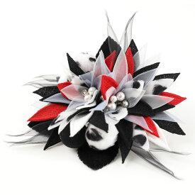 DY-014【洋飾り】コーム付き飾り1点|黒|髪飾り|ヘアアクセサリー|ヘッドドレス|成人式|卒業式|結婚式|パーティー|ウエディング|洋風|振袖|袴|和装|着物