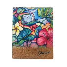 【折りたたみミラー】Colleen Wilcox(コリーン・ウィルコックス) <Paradise(パラダイス)>鏡 卓上ミラー スタンドミラー テーブルミラー メイク 折りたたみ 折り畳み可愛い かわいいハワイアン 雑貨 ファッション アート 絵画