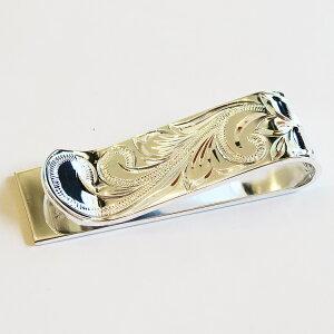 【ハワイアンジュエリー】シルバー マネークリップ 札ばさみ<幅:1.5cm>メンズ ファッション 小物 ギフト プレゼント アクセサリー