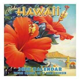 【ハワイアン カレンダー 2020年】2020 デラックスハワイアン壁掛けカレンダーヴィンテージハワイアンアート(Aloha Hawaii)壁掛け ポスター 絵画 アートハワイインテリア ハワイアン雑貨