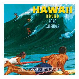 【ハワイアン カレンダー 2020年】2020 デラックスハワイアン壁掛けカレンダーヴィンテージハワイアン トラベルポスター(Hawaii Bound)壁掛け ポスター 絵画 アートハワイインテリア ハワイアン雑貨