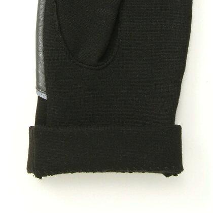BIYUTEレディースジャージ手袋ちょっと長め丈甲側レザージッパーがクールストレッチ素材Mサイズ全2色