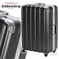 スーツケースキャリーケースMサイズ中型鏡面シボフレームタイプ59cmメンズレディースシフレ1年保証付GRE1043GREENWORKS