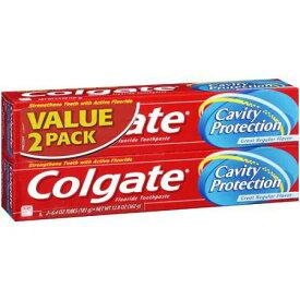 コルゲート キャビティプロテクション レギュラーフロライド トゥースペースト 2本セット 6.0oz(170g) Colgate Cavity Protection Regular Fluoride Toothpaste Twin Pack