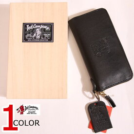 今日は5の付く日★TEDMAN ラウンドジップ レザー ロング ウォレット TDW-250 ブラック 財布 刻印 エフ商会 テッドマン キャッシュレス ポイント還元