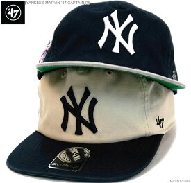 47 キャップ 送料無料 [送料込み価格/2点以上お買い上げで500円+税を値引き] ヤンキース キャップ スナップバック Yankees Marvin CAPTAIN RF/