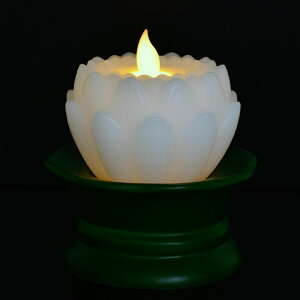 LED蓮花ロ−ソク「リアルフレイム」[白・ピンク]台付リモコン付【LEDろうそく】【蓮ろうそく】【仏壇】【仏具】【お盆】【進物】【ギフト】