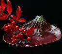 水盤 さかさ富士 [赤富士]日本製【フラワーアレンジメント】【お花】【生け花】【フラワーベース】【花瓶】【富士山】【花器】【逆さ富…