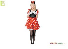 レディ ディズニー プリティ ミニーマウス レディミニー Disney  仮装 パーティ コスプレ 衣装 コスチューム イベント ハロウィン パーティ ミッキーマウスの永遠の恋人ミニーちゃんの大人用コス 子供用もあるので親子コスも可能