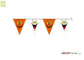 グッズ 80R2284 フラッグ バーナー パンプキン&ゴースト飾り パーティ ハロウィン 三角フラッグのデコレーションバナー♪☆AOIコレクションのパーティグッズ♪パーティーグッズ パーティ グッズ おもちゃ   大