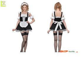 1  チューブトップメイドメイド ゴシック 欧州 仮装 コスプレ ジャンパースカートにチューブトップのインナーがセットアップ♪☆AOIコレクションのコスプレ♪コスチューム    大