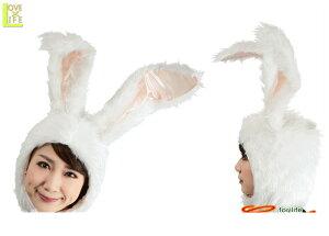 もふもふうさたん 白ウサギ ラビット うさぎ かぶりもの 仮装 パーティ もふもふ素材のかわいいかぶりもの♪☆AOIコレクションのコスプレ♪コスプレ 衣装 コスチューム