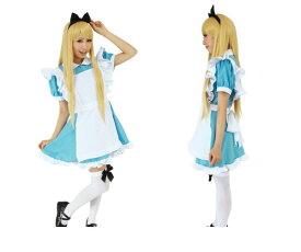 1  アリスAlice 不思議の国のアリス 仮装 コスプレ 女の子なら必ず憧れる、水色ワンピとエプロンの王道アリス☆AOIコレクションのコスプレ♪コスチューム    大