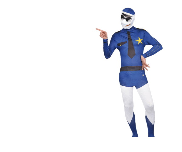 【メンズ】【95R285】フィットマン【The Fitman】【全身タイツ】【警察】【ポリス】【警官】【パーティ】【仮装】【コスプレ】正義に満ちたポリスのコス☆AOIコレクションのコスプレ♪【コスチューム】【2.980円以上送料無料】【 】【大 】