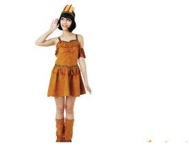 インディアンガールインディアン 部族 アメリカ ネイティブ カラフルなチロリアンテープがポイントのインディアンワンピース☆AOIコレクションのコス♪コスプレ 衣装 コスチューム   大  ハロウィン 仮装