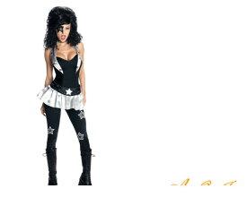 レディ 88R0726 キッス スターチャイルド ロック KISS 仮装 パーティ  STAR CHILD(ポール・スタンレー)のコス待望の女性用KISSが登場!ロックです♪☆AOIコレクションのコスプレシリーズ♪コスプレ 衣装 コスチューム