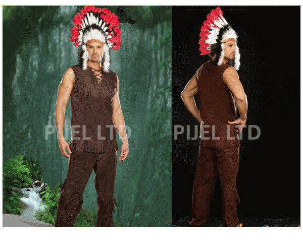 【メンズ】【91P89】【DREAMGIRL】チーフロングアロー Chief Long Arrow【インディアン】【ドリームガール】【USA】【アメリカ】【ブランド】【パーティ】セレブ愛用のドリームガール AOIコレクションのコス♪【コスプレ】【衣装】【コスチューム】【 】