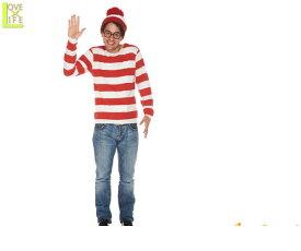 【メンズ】【ウォーリーをさがせ】ウォーリー【Wally】【コスチューム】【衣装】【イベント】【仮装】【絵本】【かわいい】【コスプレ】【アニメ】【ハロウィン】【パーティ】【イベント】かわいいキャラクターコスが登場 キュートな仕上がりで目立つこと間違いなし