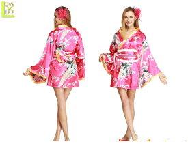 レディ TOKYOWISH Flower Princess Shocking Pink東京 着物 和服 和柄 Halloween 仮装 衣装 コスプレ コスチューム ハロウィン パーティ イベント かわいい 今年のハロウィンはかわいいコスチュームでかっこよく目立ちましょう