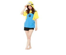 UNISEX ミニオンボブ サマーTシャツ BOB ミニオンズ 怪盗グルー USJ ユニバーサル ハロウィン コスプレ コスチューム 衣装 仮装 かわいい
