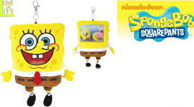 【スポンジボブ】ぬいぐるみパスケース【ぬいぐるみ】【SpongeBob】【定期入れ】【パスケース】【カードケース】【キーホルダー】【人形】【キャラ】【かわいい】