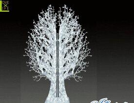 【LED】【ALS-TR(A)ZEL-6】【大型商品】LEDストリング ゼルツリー【6枚】【ツリー】【クリスマスツリー】【ホワイトツリー】【モチーフ】【イルミネーション】【クリスタル】AOIデパートの新作イルミネーション【大人気】【電飾】【クリスマス】【省エネ】