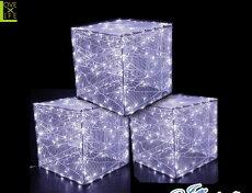 【LED】【WP】【大型商品】LEDクリスタルボックス【箱】【サイコロ】【スクエア】【四角】【正方形】【ボックス】【イルミネーション】【クリスタル】【エコ】AOIデパートの新作イルミネーション【大人気】【電飾】【クリスマス】【省エネ】【大人気】