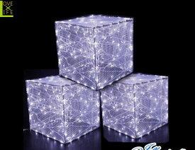 【LED】【WP】【大型商品】LED クリスタルボックス【箱】【サイコロ】【スクエア】【四角】【正方形】【ボックス】【イルミネーション】【クリスタル】【エコ】AOIデパートの新作イルミネーション【大人気】【電飾】【クリスマス】【省エネ】【大人気】