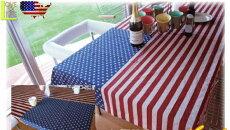 【アメリカン雑貨】【USAFLAGSERIES】USAテーブルクロス【テーブルカバー】【クロス】【テーブルマット】【雑貨】【アメリカ雑貨】【アメリカ】【USA】【かわいい】【おしゃれ】星条旗柄グッズで気分は大使館お食事が楽しくなっちゃうドデカクロス